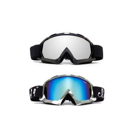 "Cloud 9 - Snow Goggles ""Gorilla"" Adult Camo Anti-Fog Dual Lens UV400 Snowboarding Ski (1 Pair only, choose your color)"
