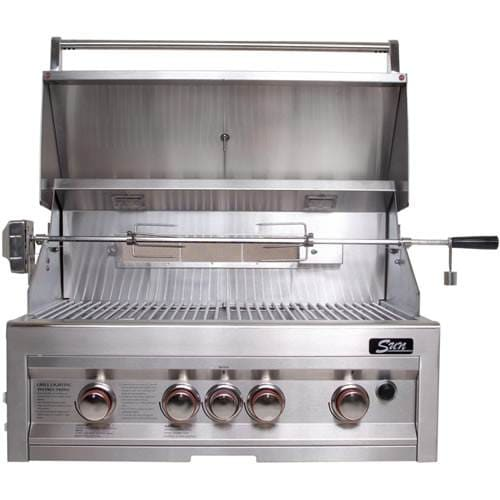 SUNSTONE Grills SUN4B-IR-LP 34 4 Burner Gas Grill with Rotisserie