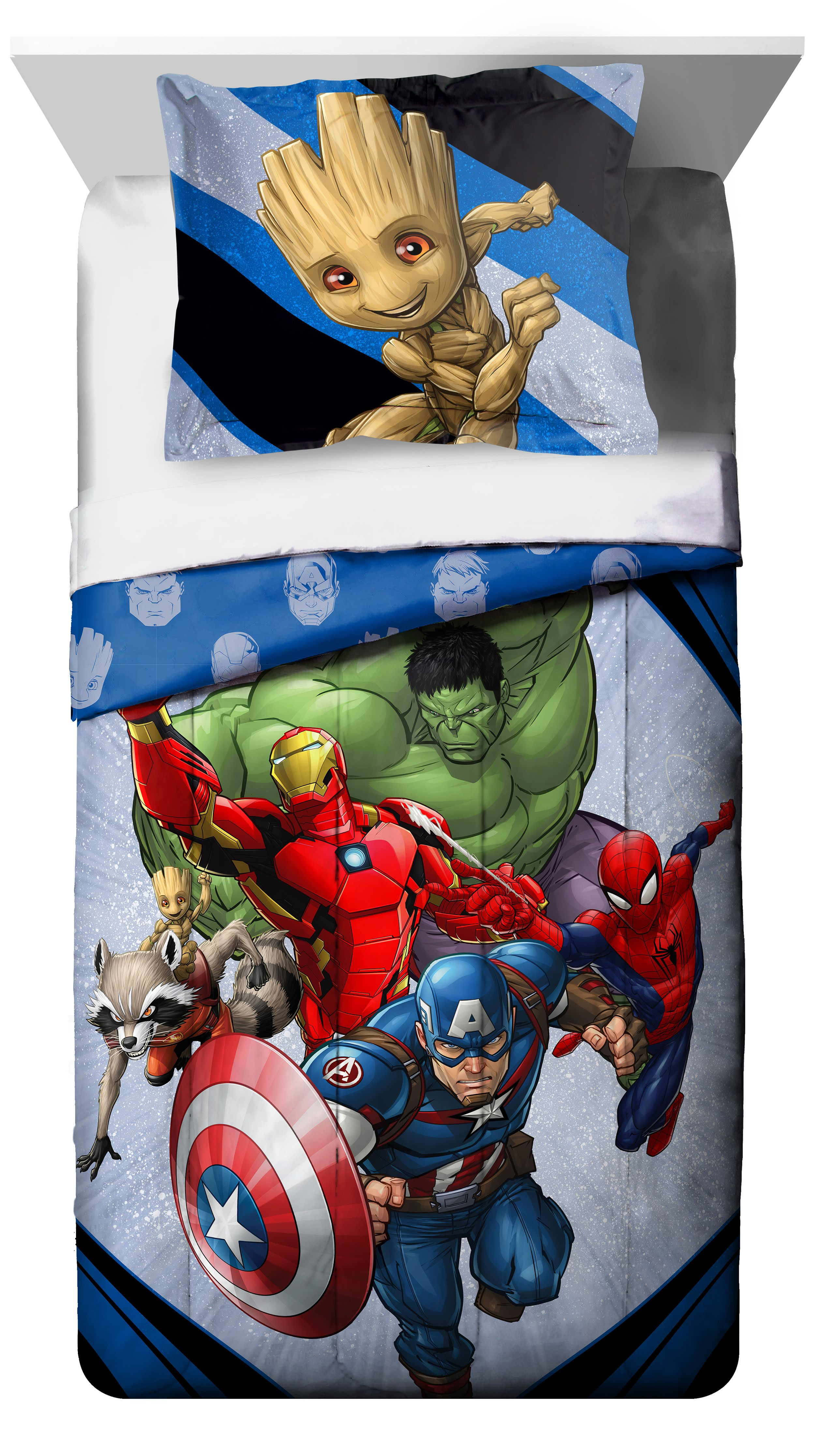 Marvel's Avengers 'Fight Club' 2 Piece Twin Full Comforter and Sham Set, Kid's Bedding by Jay Franco & Sons