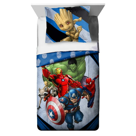 - Marvel Fight Club Twin & Full Kid's Bedding Comforter and Sham Set, 2 Piece