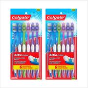 (2 pack,12 total) Colgate Extra Clean Full Head Toothbrush, Medium