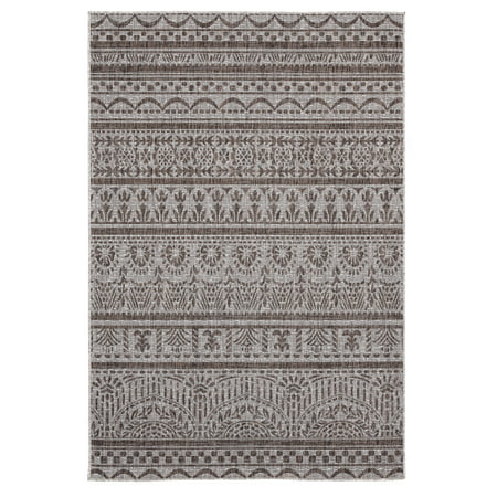 United Weavers Mali Keown Traditional Brown Woven Polypropylene Outdoor Area Rug ()