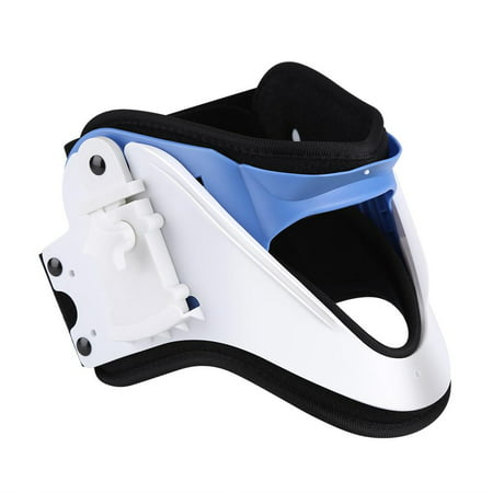 WALFRONT Adjustable Neck Brace Cervical Traction Fixation Spine Care Correction Protection Pain Relief , Spine Correction, Cervical Brace