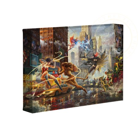 "Thomas Kinkade Studios DC Super Hero Fine Art The Women of DC 16"" x 24"" Premier Wrap Edition Limited Edition Canvas"