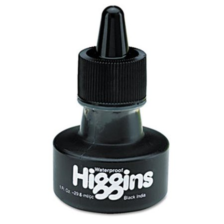 Higgins. 44201 Waterproof Pigmented Drawing Ink - Black