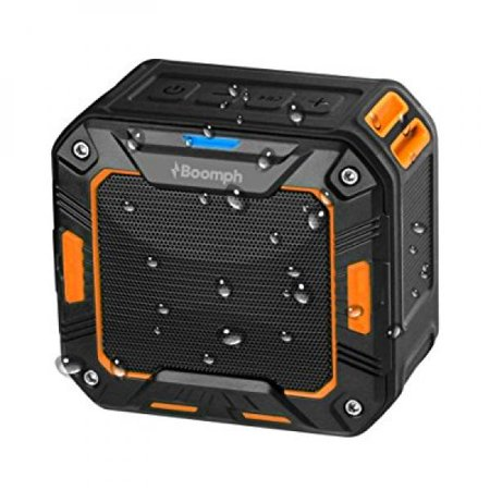 Boomph Wireless Water Resistant Bluetooth 2000 MAH Speakers with Bike Mount  Feature- Best Outdoor Portable Sport or Shower Amplifier Boom Box Sound