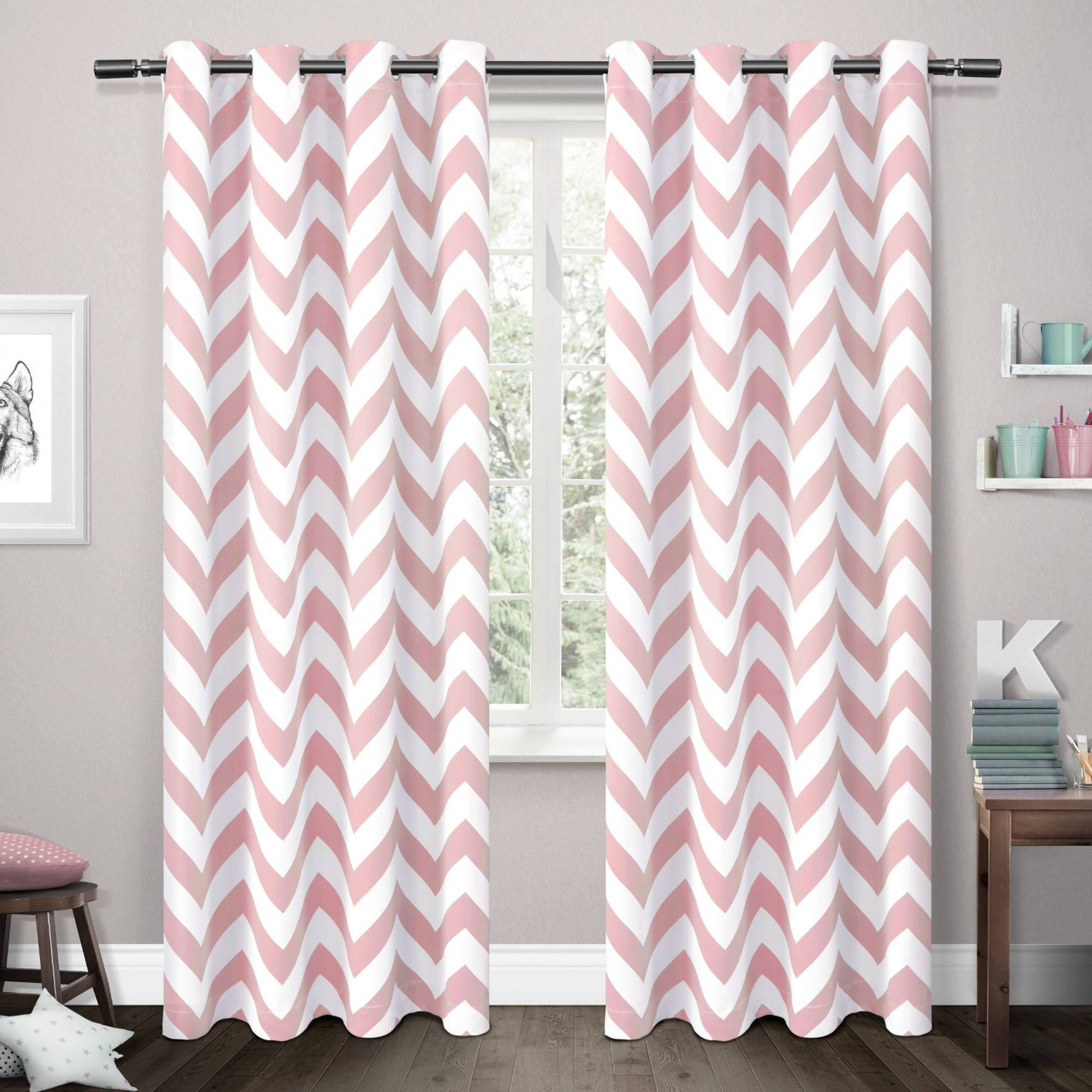 Kids Mars Woven Room-Darkening Thermal Grommet-Top Window Curtain Panels, Set of 2