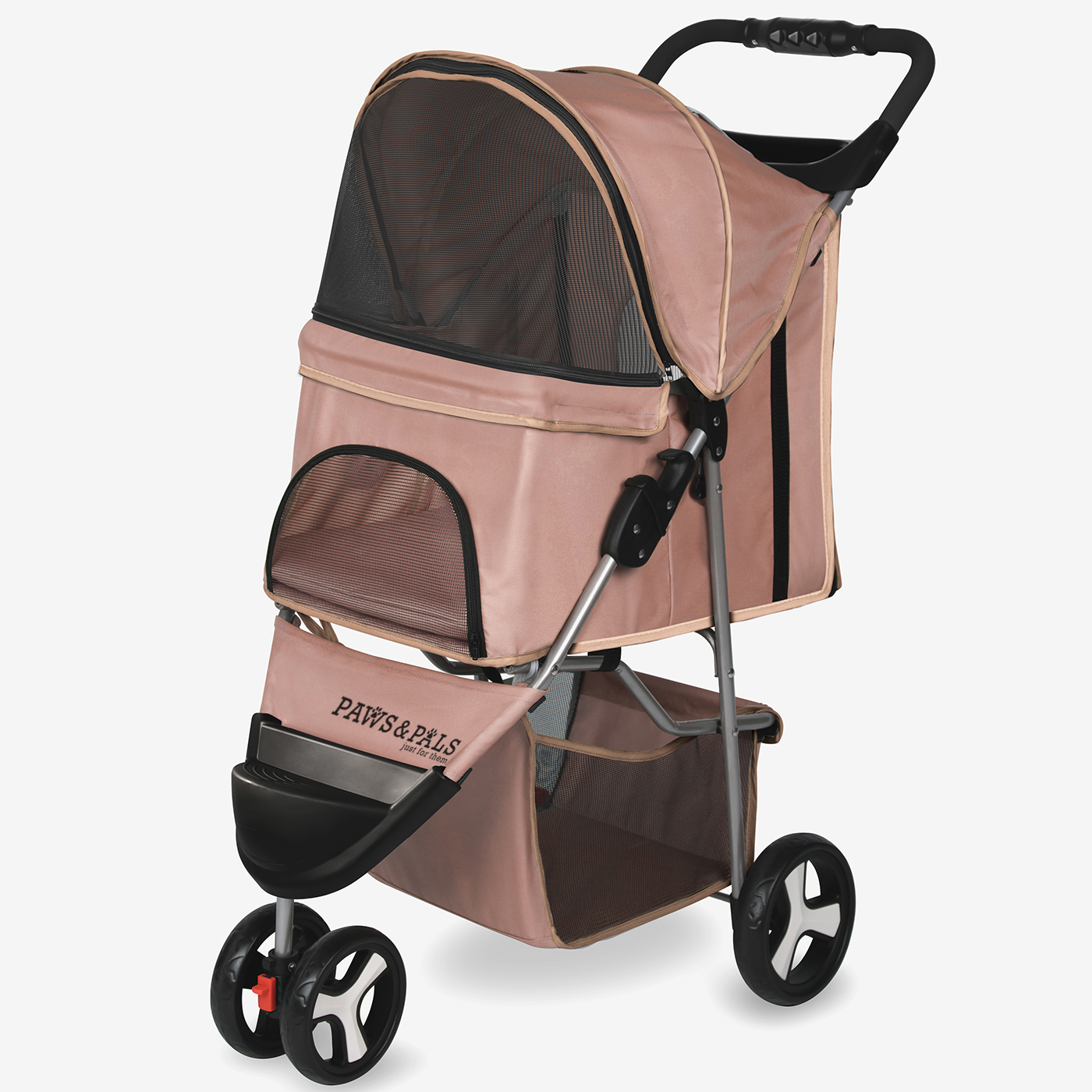 Paws & Pals Pet Stroller 3 Wheel,Portable Jogger Best for Dog and Cat