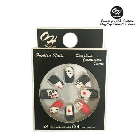 - OH Fashion Stick On Nails Casino Night 24 units