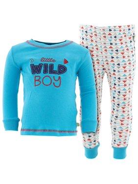 Duck Duck Goose Little Boys' Blue Wild Boy Cotton Pajamas