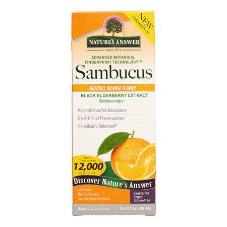 Nature's Answer Sambucus - Natural Orange Flavor 8