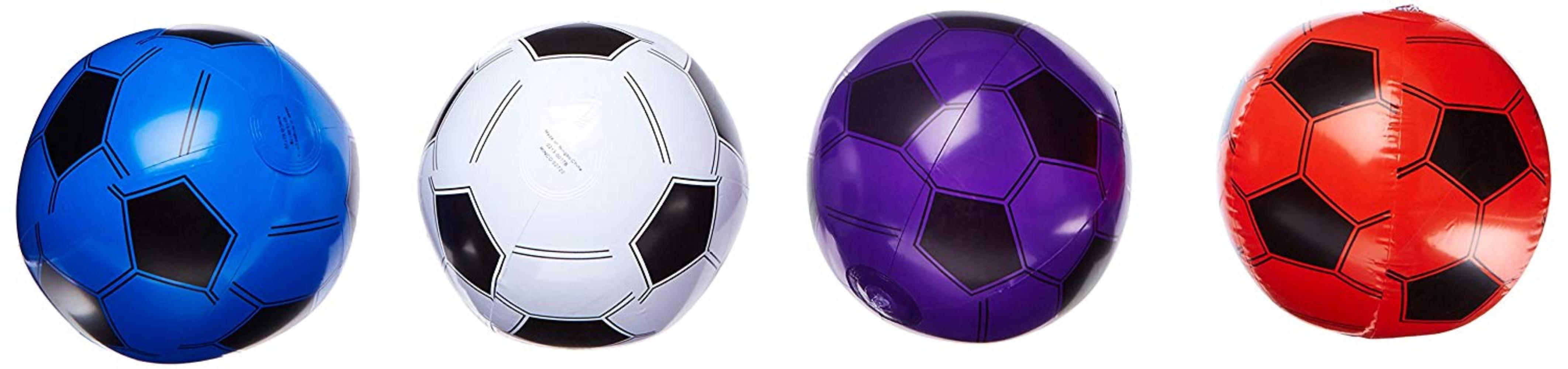 5STARS N&R 12 Inflatable Soccer Balls Soccer Ball Inflates 16'' Assorted Colors, 12... by