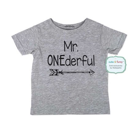 Mr. ONEderful - wallsparks cute & funny Brand cool boho 1st First Birthday Shirt Age 1 One year old - Soft Infant Shirt (Cute 14 Year Old Boys)