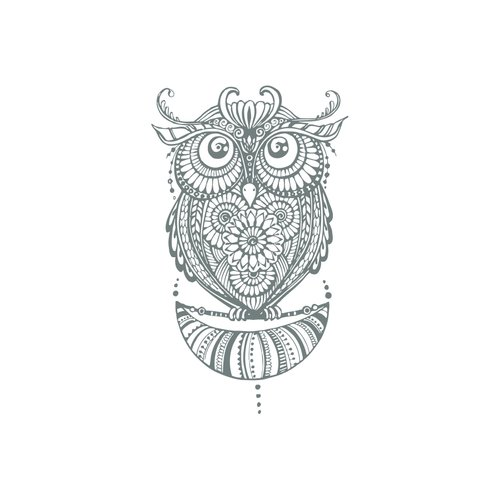 Bungalow Rose Shelia Owl Wall Decal
