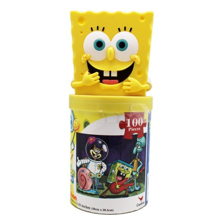 Spongebob Squarepants Rocking Out Jigsaw Puzzle W Figure
