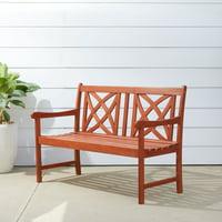 V1493 4-Foot Wood Garden Bench