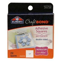 Elmer's Craft Bond Permanent Adhesive Squares, 250 Count