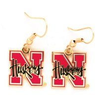 Nebraska Cornhuskers Wire Earrings