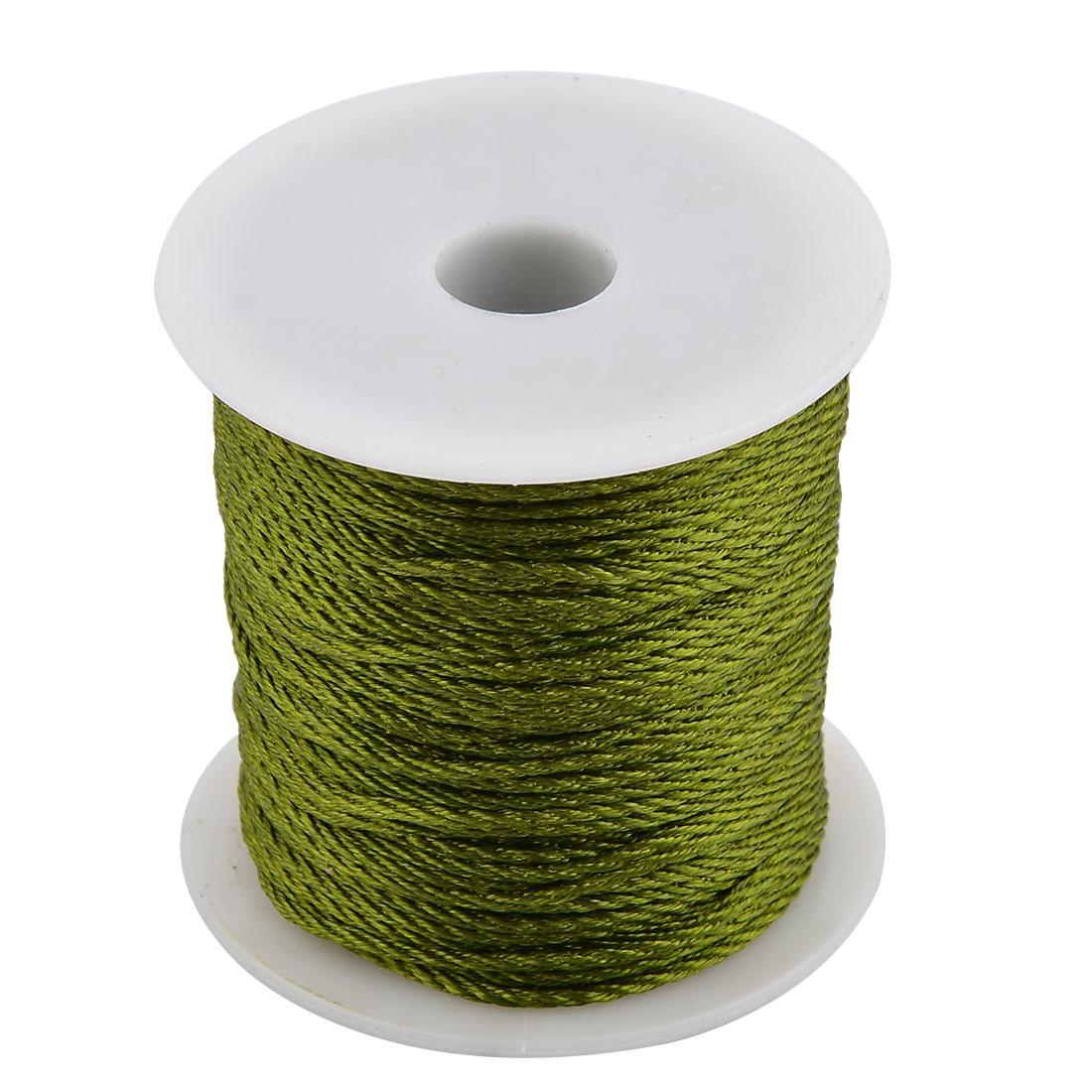 Nylon Handicraft DIY Chinese Knot Bracelet Cord String Rope Army Green 55 Yards