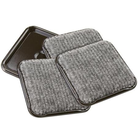 Soft Touch 2 1 2 Quot Square Carpet Caster Cups Walmart Com