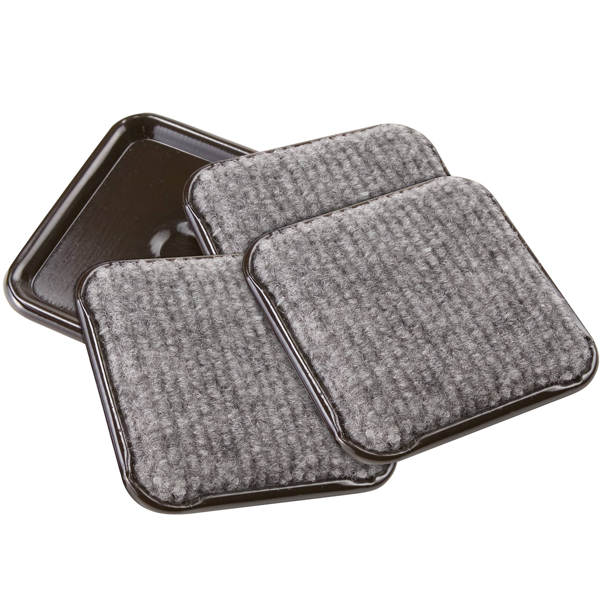 "Soft Touch 2-1/2"" Square Carpet Caster Cups"