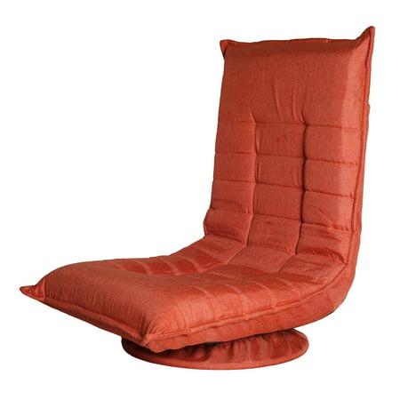 Ollypulse 360 Degree Swivel Folding Floor Sofa Chair for Video Games, Orange ()