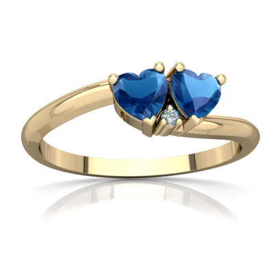 London Topaz Sweetheart's Promise Ring in 14K Yellow Gold by