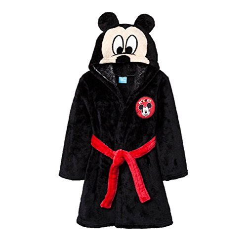 Disney Boys Girls' Mickey Mouse Minnie Mouse Hooded Mask Robe (2t/3t, Mickey Mouse)