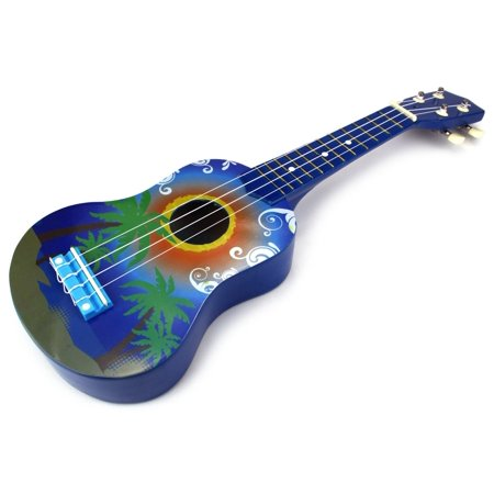 velocity toys graphic ukulele 4 stringed toy guitar lute musical instrument dark blue. Black Bedroom Furniture Sets. Home Design Ideas
