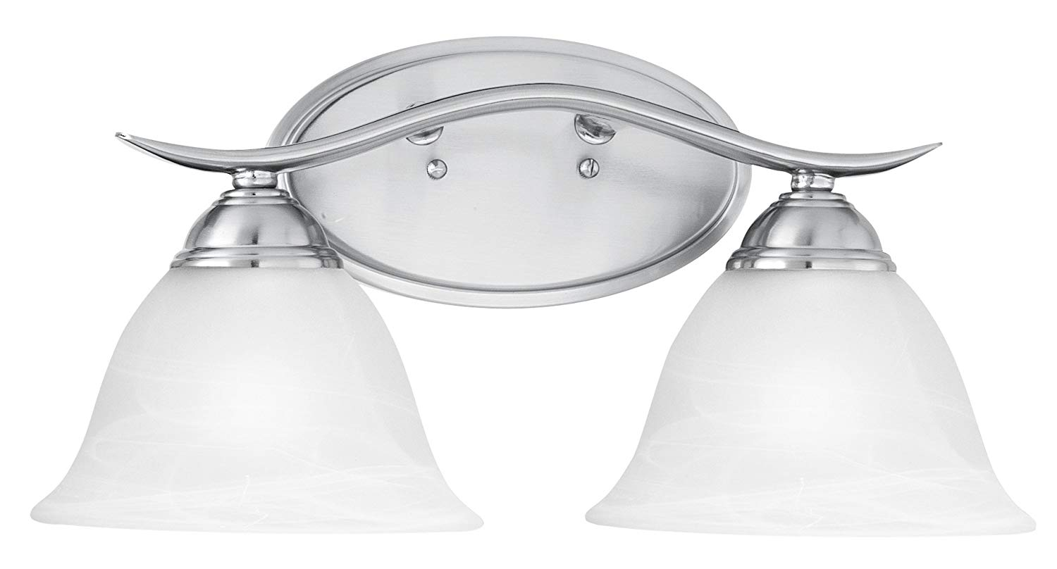 Thomas Lighting Sl7482-78 Prestige Two-Light Bath Fixture. Brushed Nickel by