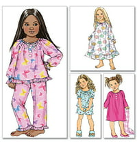 Butterick Pattern Children's and Girls' Top, Shorts, Pants and Gown, CL (6, 7, 8)