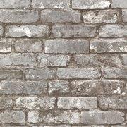 Beacon House Brickwork Pewter Exposed Brick Wallpaper