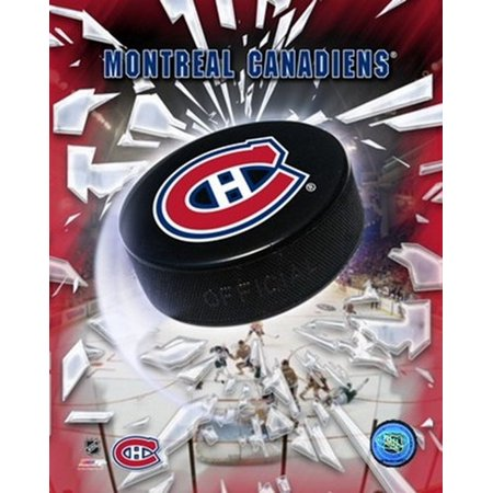 Montreal Canadiens 2005   Logo Puck Sports Photo