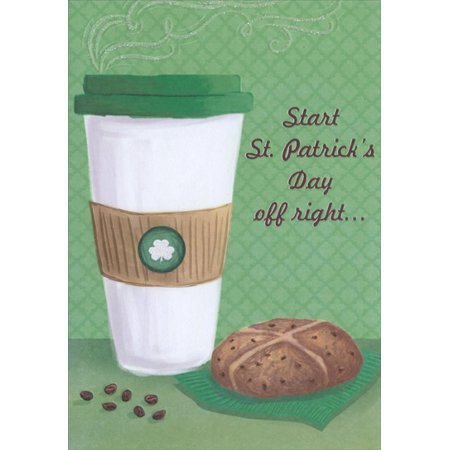 Funny St Patricks Day Card - Designer Greetings Steaming Coffee St. Patrick's Day Card