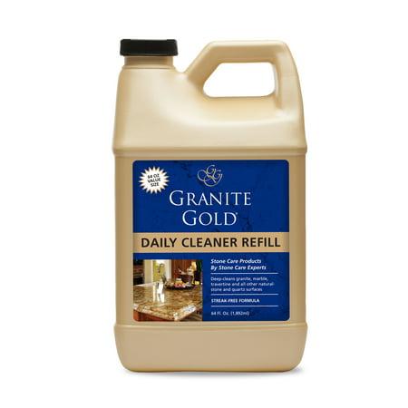 Granite Gold Daily Cleaner, 64 fl oz, Streak-Free Granite, Quartz and More