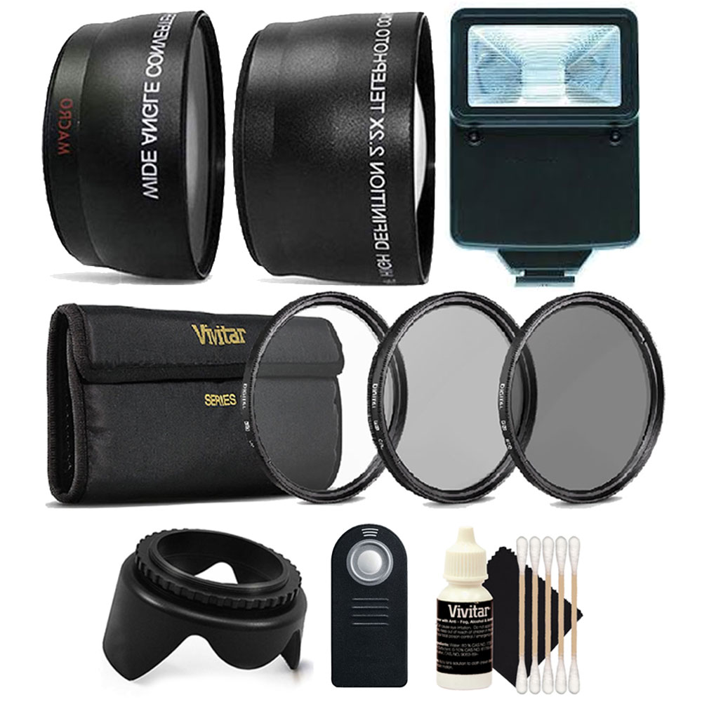 52mm Fisheye Telephoto & Wide Angle Lens + UV CPL ND + Accessory Kit for Nikon D3300 D3200 D3100 D5500 D5300 D5200 D5100