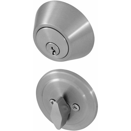 honeywell single cylinder deadbolt door lock satin nickel