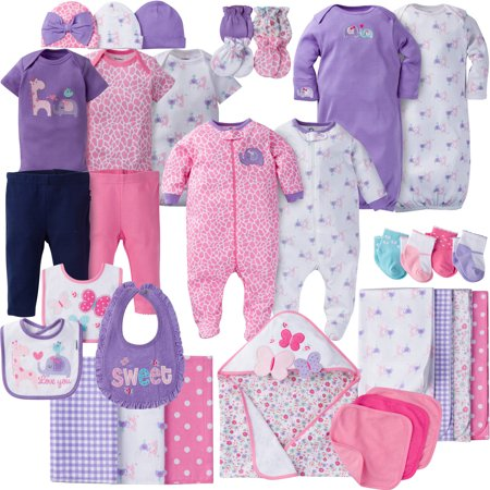 Gerber Newborn Baby Girl Perfect Baby Shower Gift Layette Set  34 Piece