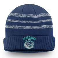 Vancouver Canucks Fanatics Branded Authentic Pro Clutch Cuffed Knit Hat - Blue - OSFA