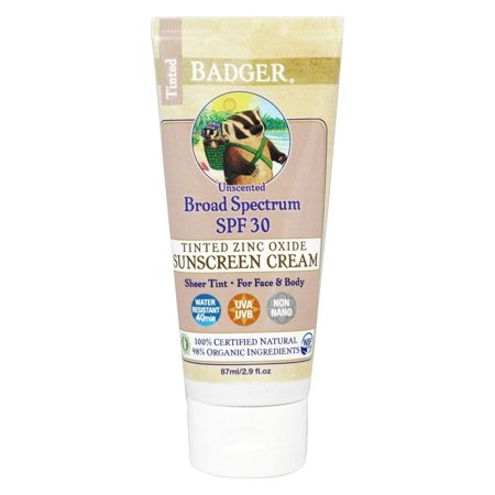 Shelter Tinted Sunscreen - WS Badger Badger  Sunscreen, 2.9 oz