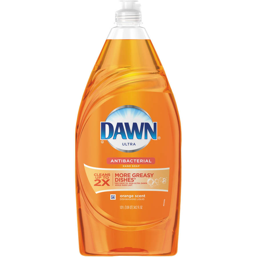 Dawn Ultra Orange Scent Antibacterial Dishwashing Liquid/Hand Soap, 34.2 fl oz