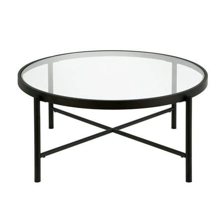 Round Glass Top Coffee Table, Round Metal Glass Top Coffee Table