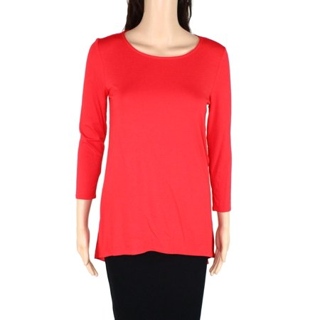 Women's Knit Top Chinese Small Mixed-Media Elbow-Sleeve S