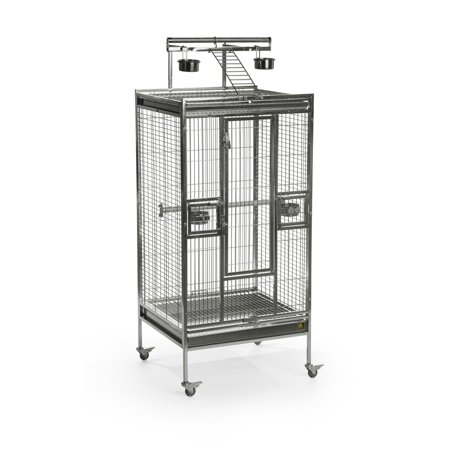 Prevue Pet Products Medium Stainless Steel Playtop Bird Cage 3453 - Medium Playtop Birdcage