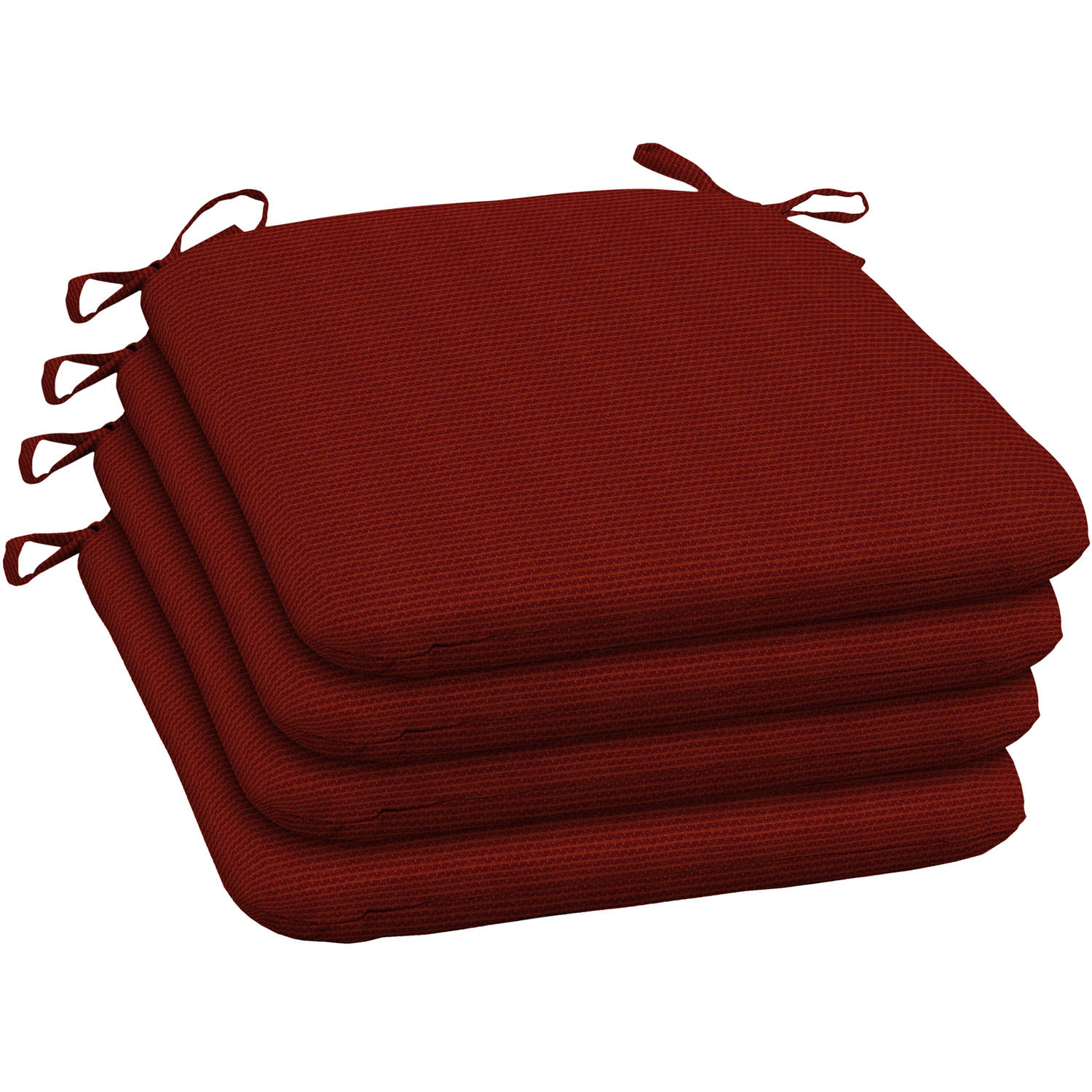 Arden Outdoors Red Rib Woven Wrought Iron Seat Pad, Set of 4