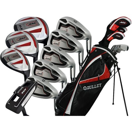 Men's Bullet .444 Right Hand Complete Golf Clubs & Stand Bag Set, Red