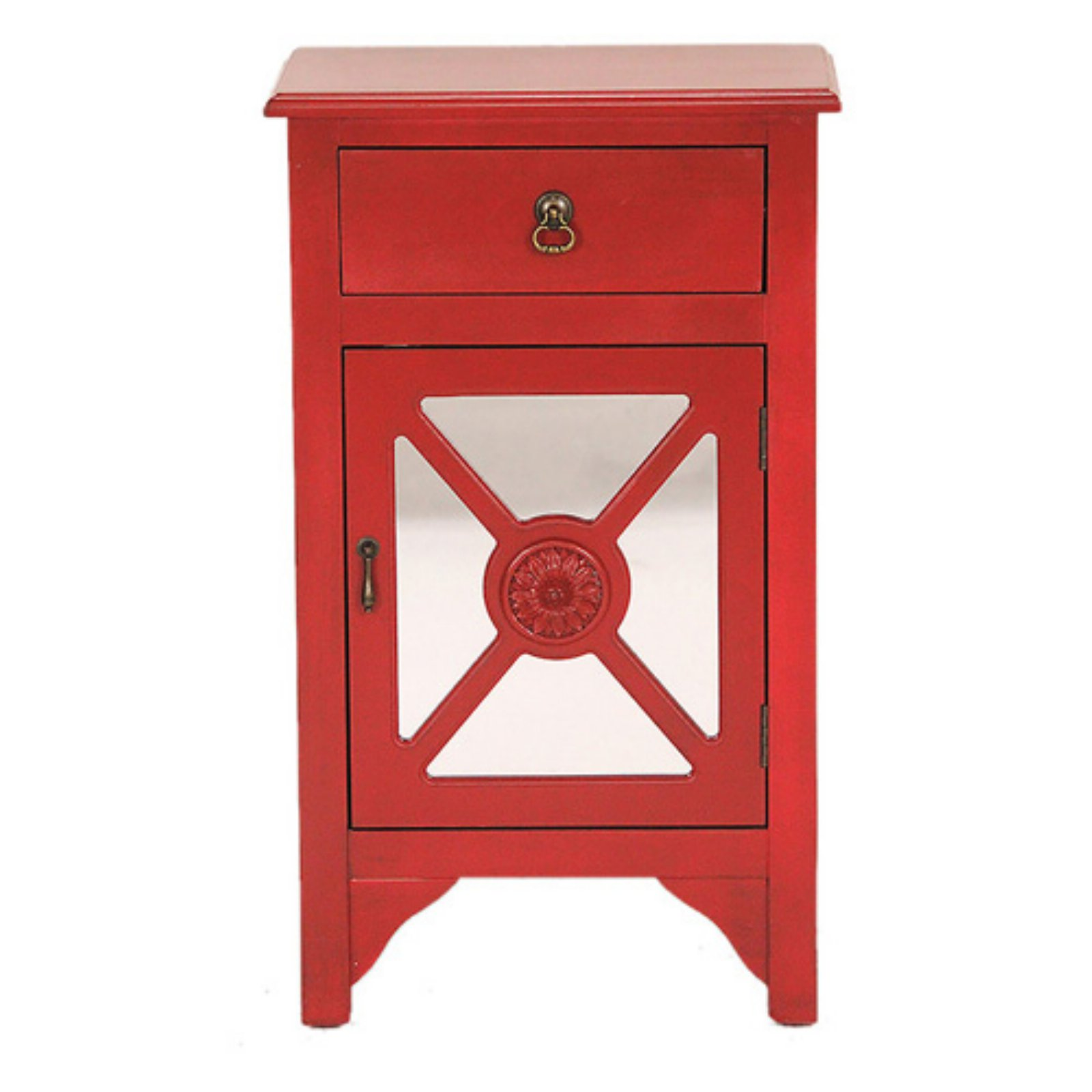 Heather Ann Creations Medallion 1 Drawer 1 Door Accent Cabinet