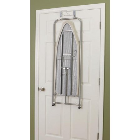 Household Essentials New Over The Door Ironing Board Satin Silver