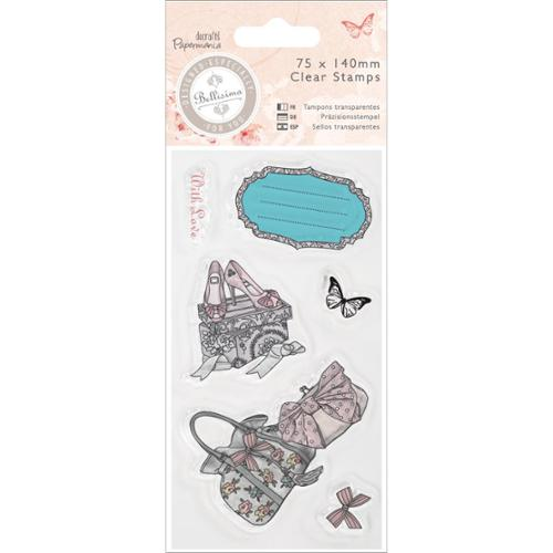 docrafts Papermania Bellisima Mini Clear Stamps 75x140mm-Shoes & Bags