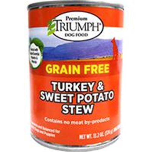 Triumph Pet Industries 486083 Triumph Grain Free Turkey & Sweet Pot Can Dog Food